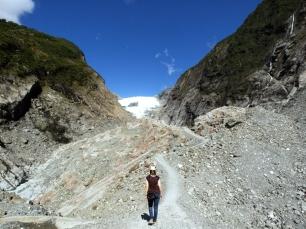 Kurz vor dem Franz Josef Gletscher