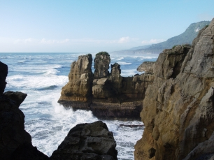 Felsformationen an den Pancake Rocks