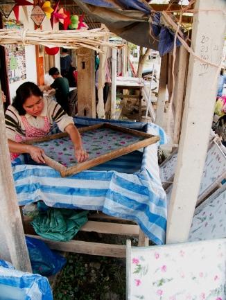 Entstehung eines Reispapirgemäldes