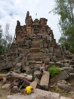 Die alte Tempelruinen laden zum erkunden ein