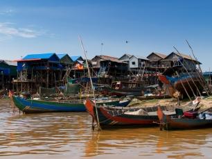 Die Bewohner von Kompong Phluk leben auf und mit dem See