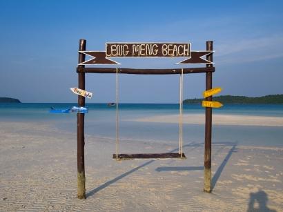 Schaukeln am Strand sind keine Mangelware