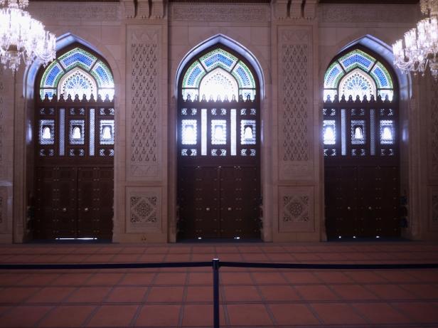 Der Gebetssaal für Frauen ist während der Touristenzeiten für jedermann zugänglich