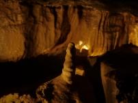 Stalagmit in der Aillwee Cave.