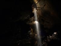 Der unterirdische Wasserfall.