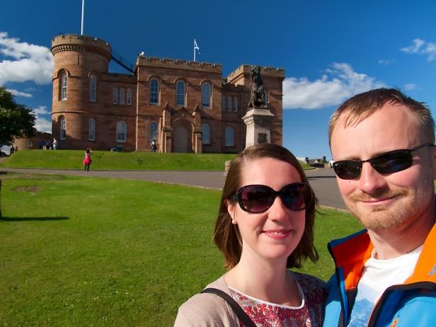 Das Inverness Castle haben wir uns bei dem Wetter nur von außen angeschaut.