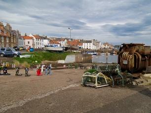 Im Hafen von St. Monans gibt es einen Gummistiefelgarten.