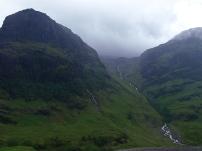 Die Berggipfel sind schon beeindruckend.