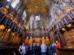 Innen wartet die Thistle Chapel auf die Besucher.
