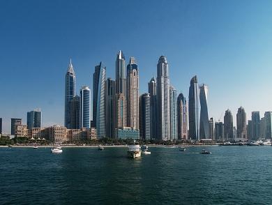 Schon imposant, die Skyline von Dubai.