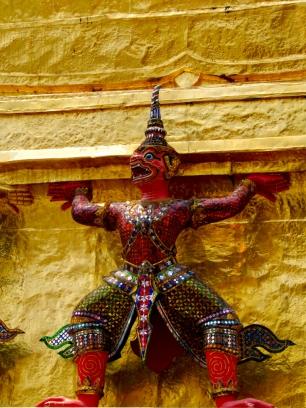 Ramakien Figuren sind detailliert gearbeitet.