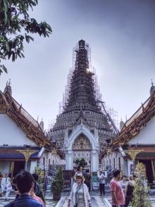 Wat Arun im Käfig.
