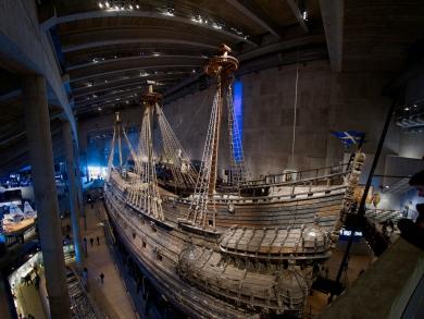 Das Wrack der Vasa wurde hier nach der Bergung aufgebaut.