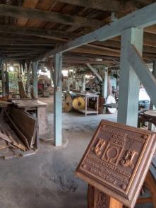 Die Werkstatt sieht alt aus, funktioniert aber tadellos.