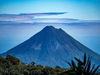 So klar ist der Arenal-Vulkan selten zu sehen...
